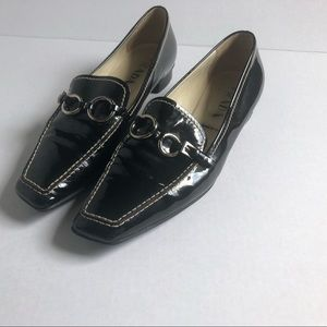Prada patent leather loafers slip ons